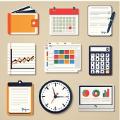 Set of business elements of marketing, reporting