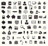 Set of black universal web and mobile icons.