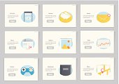 Website and mobile Flowcharts with icons in flat style