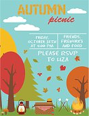 Autumn picnic party