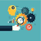 Creative concept of workflow, search engine optimization or brainstorming.