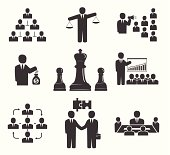 Business people. Office icons, conference, workforce, business meetings