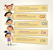 Infographics Children school