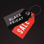 Black Friday sales tags
