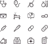 hospital element vector black icon set on white background