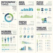 Big set of awesome infographic vector elements for business