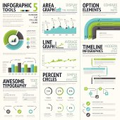 Infographic tools and elements to create vector infographics