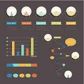 Set of infographic elements. Timeline schedule template. Vector illustration.
