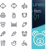 Lineo - Baby and Childhood outline icons