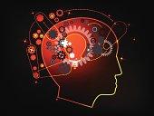 Concept of Human thinking model vector Illustration