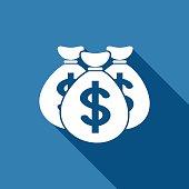 money bag dollar icon