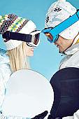 loving snowboarders