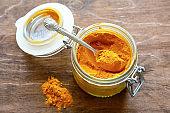 curry powder in a glass jar