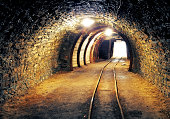 Mine underground tunnel
