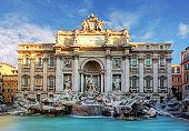 Rome, Fountain di Trevi, Italy