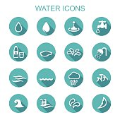 water long shadow icons