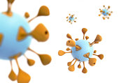 illustration of virus on white background