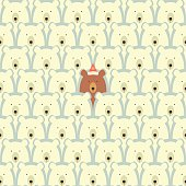 Bears seamless cartoon pattern