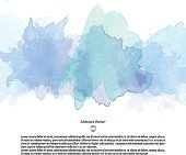 Abstract vector watercolor template