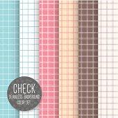 Check Seamless pattern Geometrical vector background Pastel light set