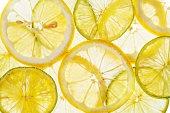 Citrus slices fresh fruit background