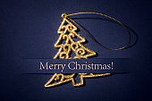 Glitter Christmas Tree blue Paper Card Greetings Business Backgrounds Photo