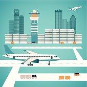 Vector airport concept