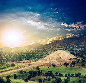Teotihuacan, Mexico, Pyramid of the moon