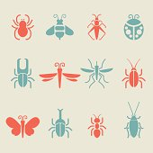 Insect icons - Color Series | EPS10