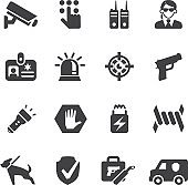 Security Guard Silhouette icons   EPS10