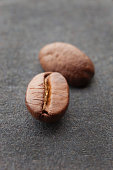 Closeup of coffee bean with blur in background