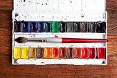 Watercolor paint box