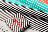 Gift wrapping paper. holidays background.
