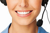 Customer Service Representative With Headset - Isolated