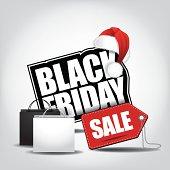 Black Friday sale icon.