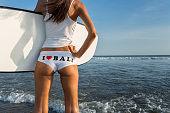 Surfer buttocks