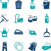 Cleaning Icons   Color Series