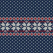 Winter Holiday sweater design on the wool knitted texture