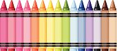 Colorful crayons. Vector illustration.