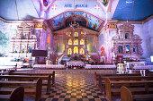 Beautiful Catholic Church in an exotic country indoor