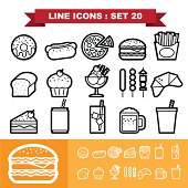 Line icons set 20
