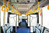 Interior of modern bus