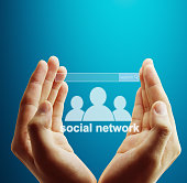 virtual icon of social network