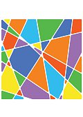 Colorful Geometric triangle Background. Vector