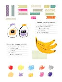 Healthy fresh smoothies recipes plus Collection of  Washi Tape Stripes