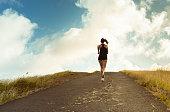 Active running woman