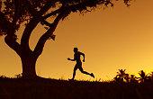 Active running men