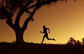 Active running man