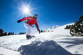 Snowboard in the mountains