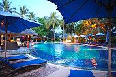 Swimming pool in Maldives